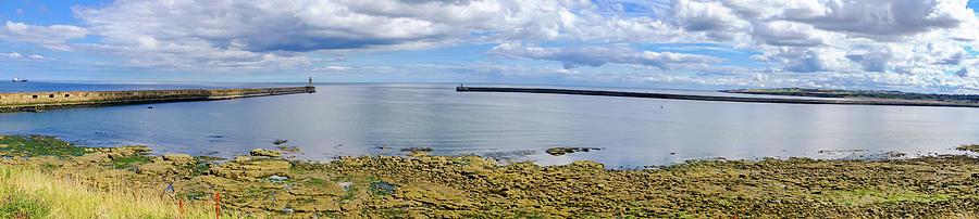 Boat Photograph - Tynemouth Piers And Lighthouses Panorama by Iordanis Pallikaras