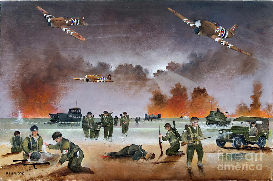 Typhoons Over Utah Beach by Ken Wood