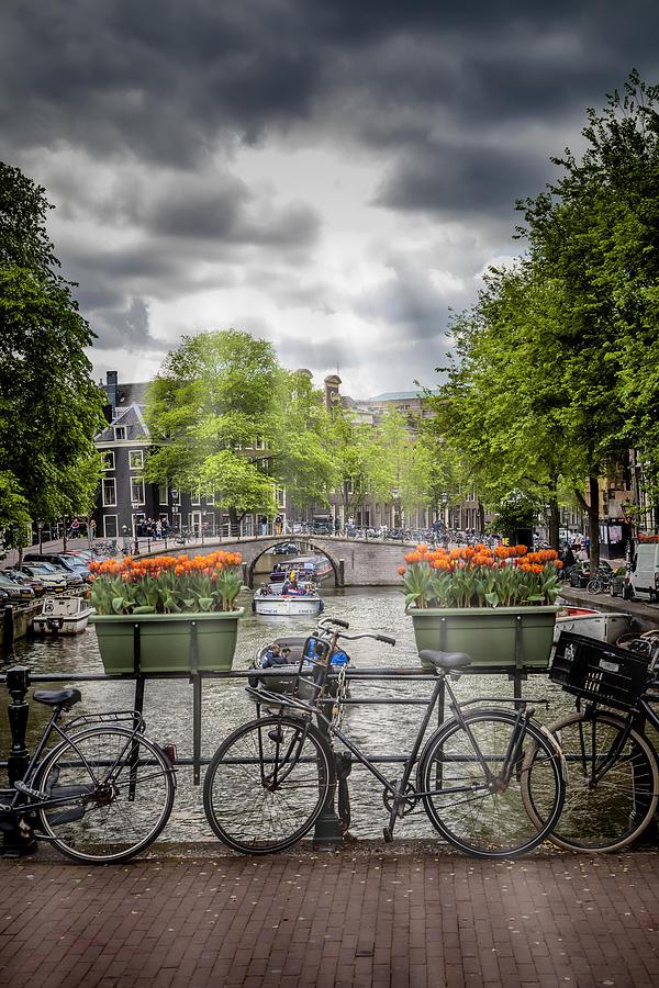 Amsterdam Photograph - Typical Amsterdam by Melanie Viola