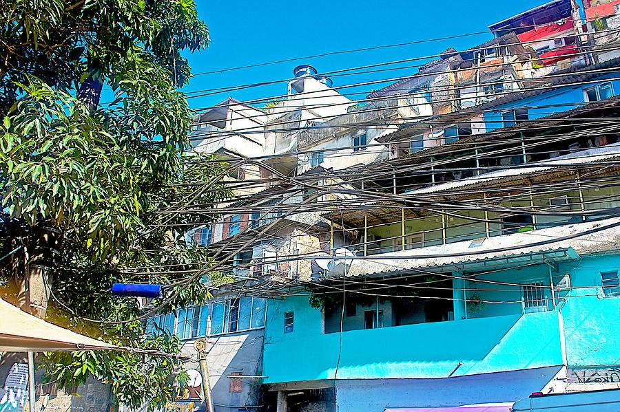 Typical Electrical Wiring In Rocinha Favela In Rio De Janeiro-brazil ...