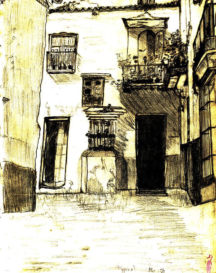 Malaga Painting - Typical Malaga by Linda Hubbard Red Cap Art