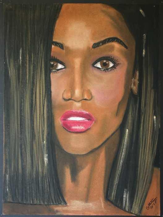 Portrait Painting - Tyra Banks by Garnett Thompkins
