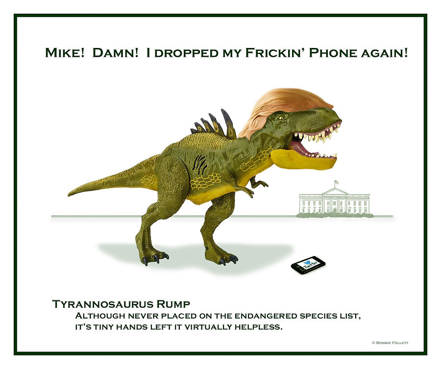 Tyrannosaurus Digital Art - Tyrannosaurus Rump by Bonnie Follett