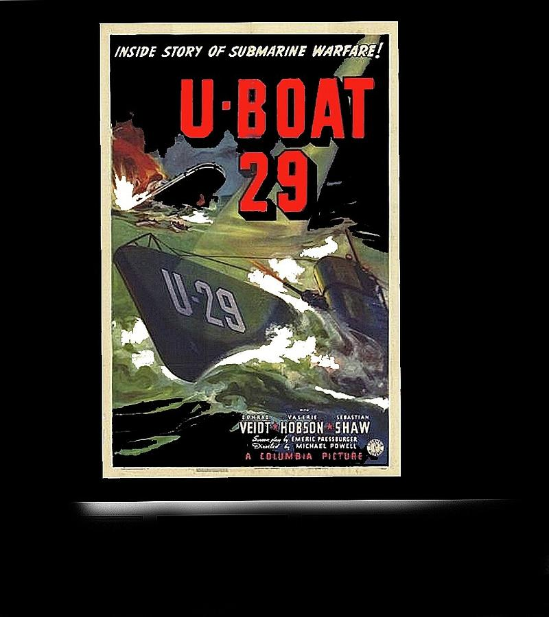 U Boat 29 Us Theatrical Poster 1939 Frame Added 2016 Photograph