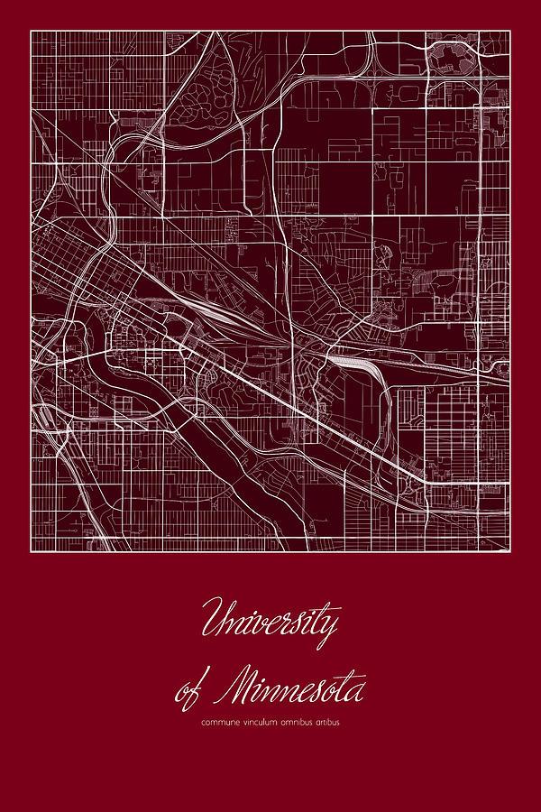 U Of Minnesota Map.U Of M Street Map University Of Minnesota Minneapolis Map Digital