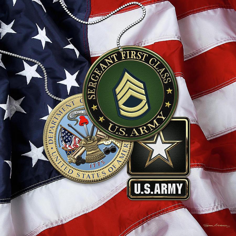 U. S. Army Sergeant First Class - S F C Rank Insignia with