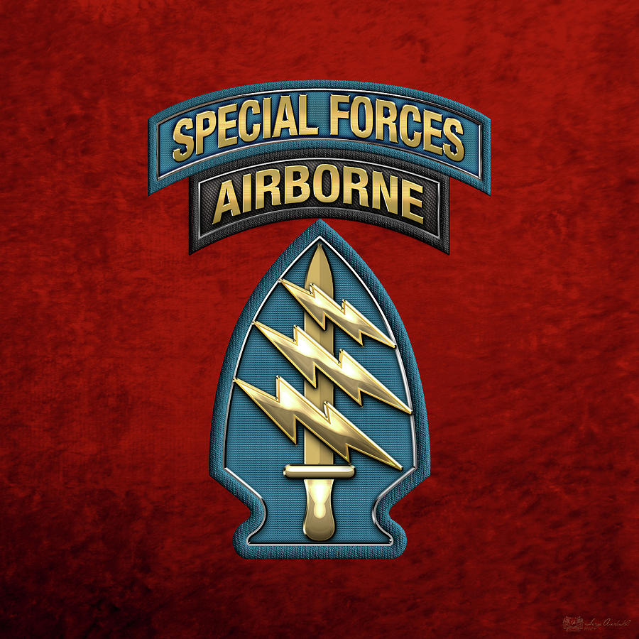978e88f6539ec U. S. Army Special Forces - Green Berets S S I Over Red Velvet. Introducing   Military Insignia   Heraldry  collection by Serge Averbukh ...