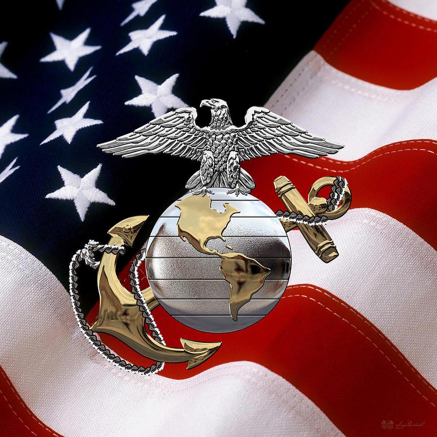U S M C Eagle Globe And Anchor - C O And Warrant Officer E ...