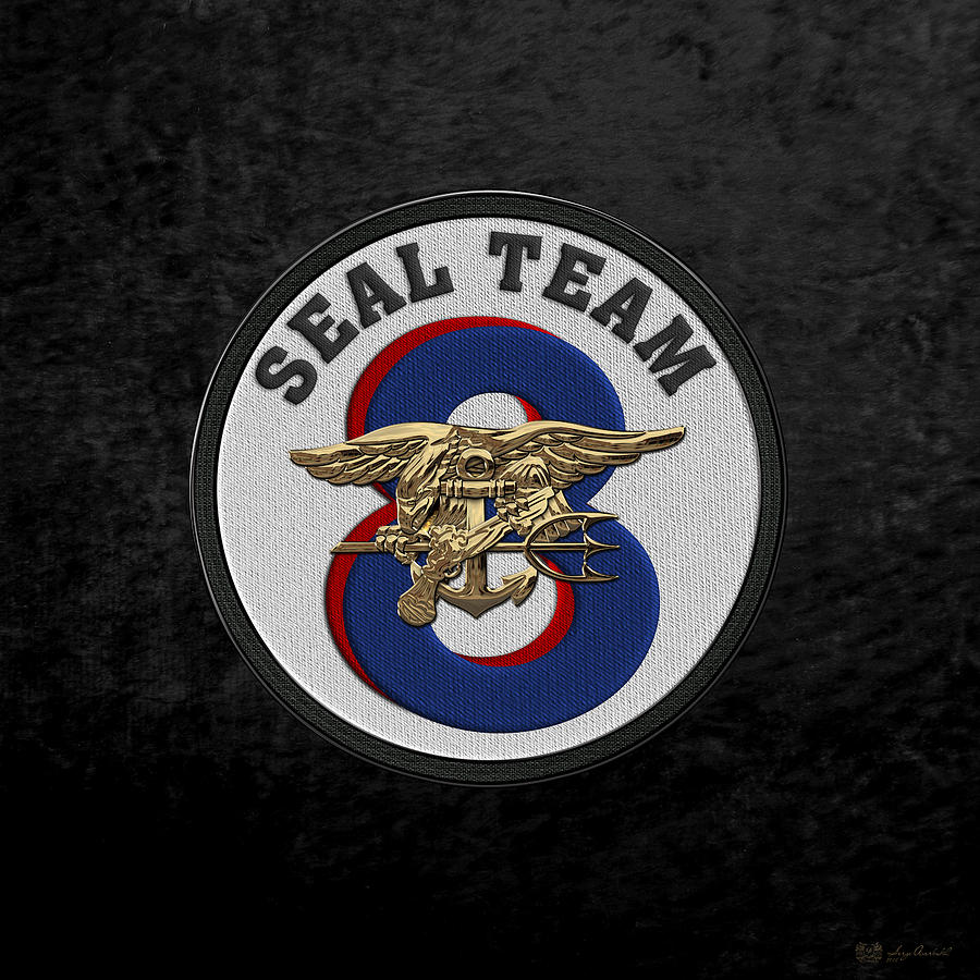 Other Militaria US NAVY SEAL TEAM EIGHT MILITARY PATCH SEAL