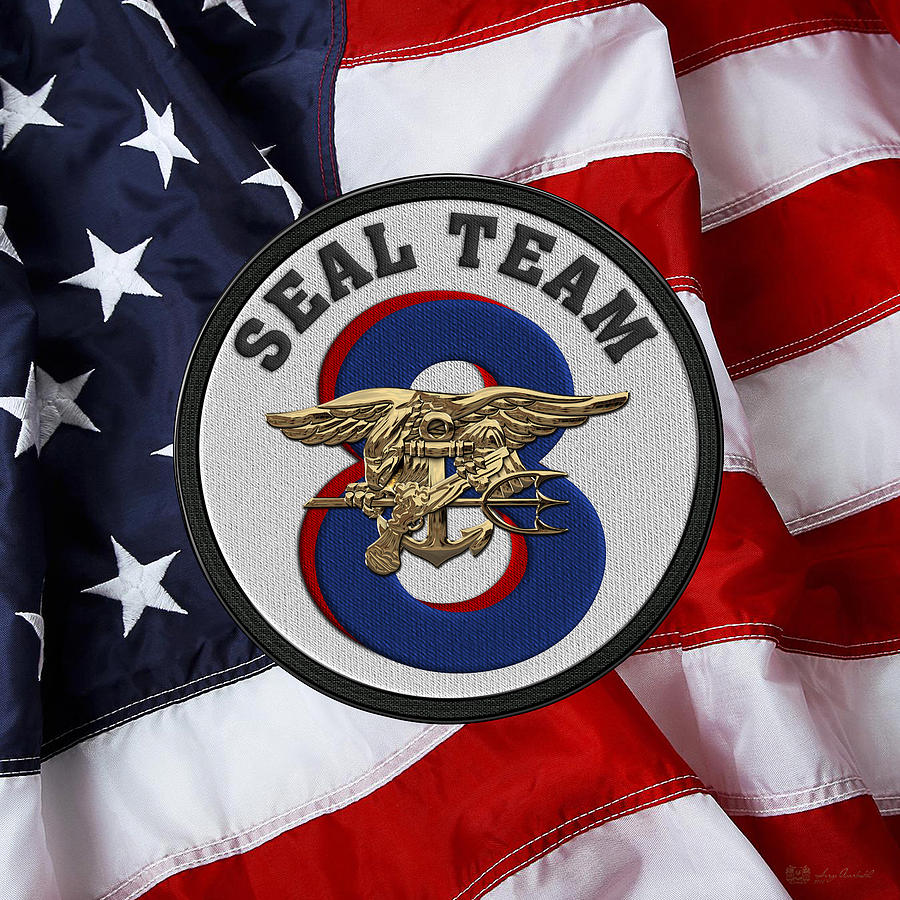 Collectibles Navy US NAVY SEAL TEAM EIGHT MILITARY PATCH SEAL TEAM 8