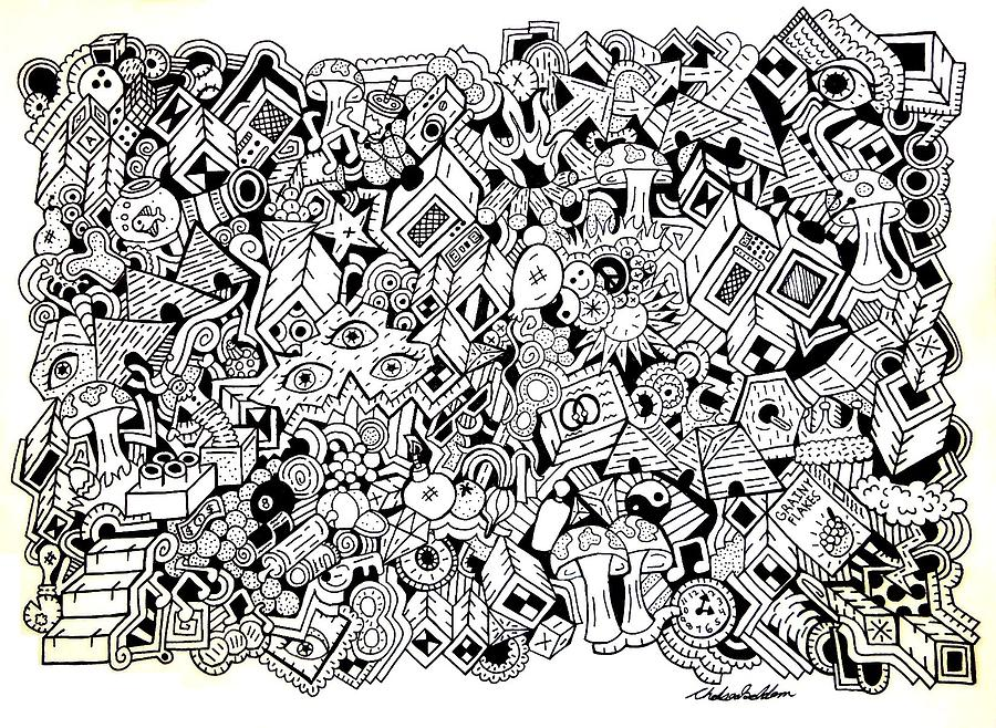 Uberman Drawing - Uberman Collaberation by Chelsea Geldean