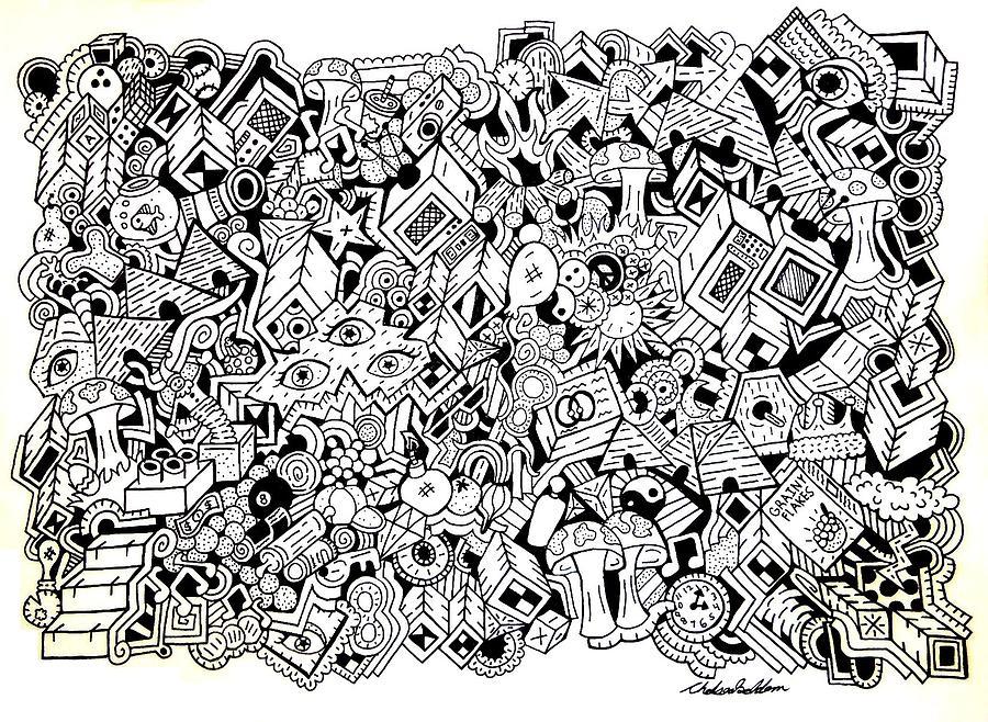 Uberman Drawing - Uberman Collaberation by Chelsea Geldean