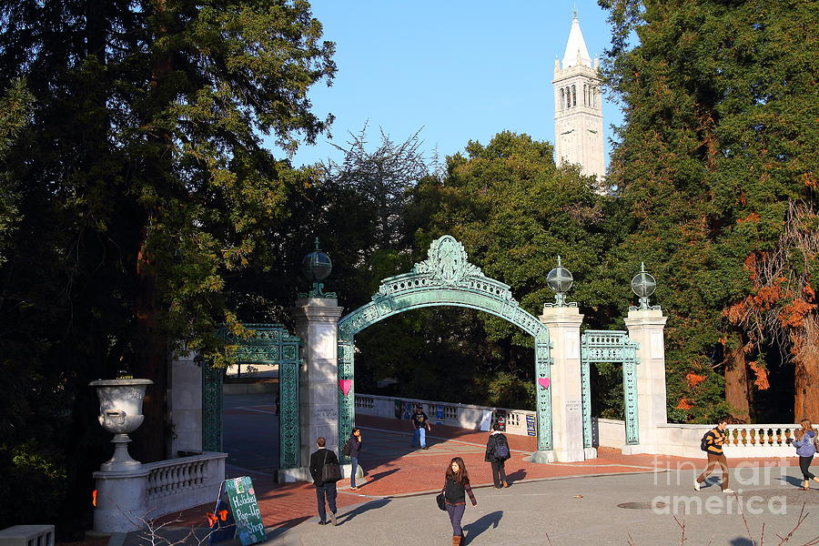Sproul Photograph - Uc Berkeley . Sproul Plaza . Sather Gate And Sather Tower Campanile . 7d10025 by Wingsdomain Art and Photography
