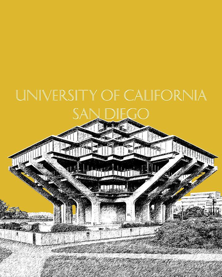 UC San Diego Gold by DB Artist