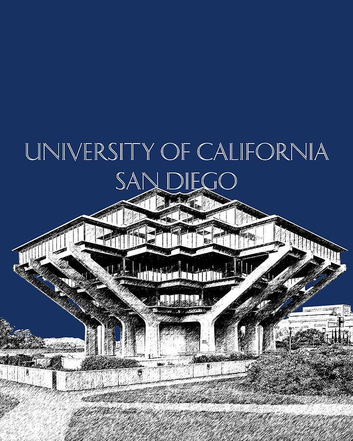 UC San Diego Navy Blue by DB Artist