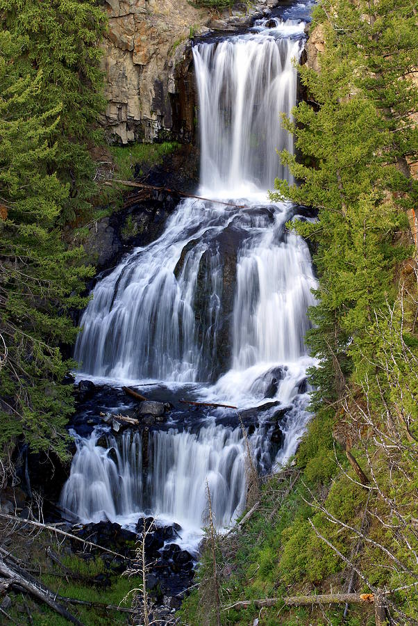 Yellowstone National Park Photograph - Udine Falls by Marty Koch