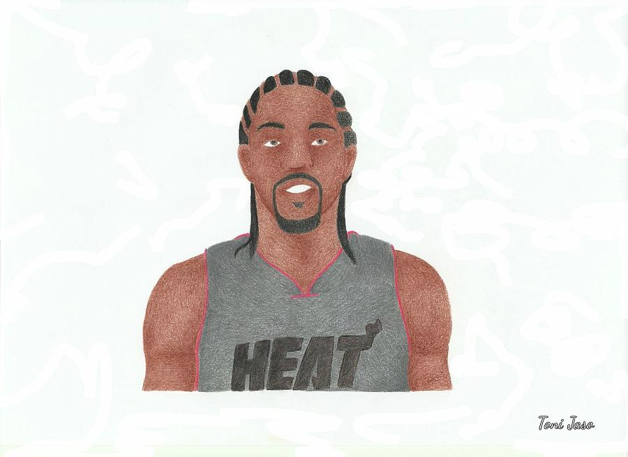 Basketball Drawing - Udonis Haslem by Toni Jaso