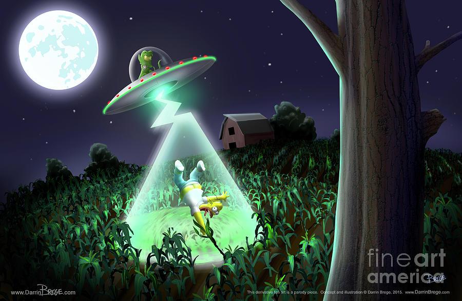 Simpsons Digital Art - Uf Doh by Darrin Brege