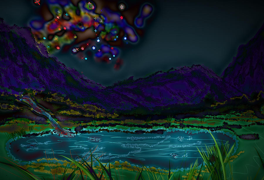 Abstract Digital Art - UFO by Kab