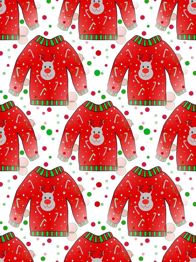 Ugly Christmas Sweaters Patterns.Ugly Christmas Sweater Pattern