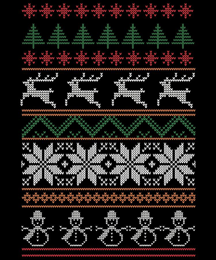 Ugly Christmas Sweater Design.Ugly Christmas Sweater Reindeer Snowflakes Christmas Tree Snowman