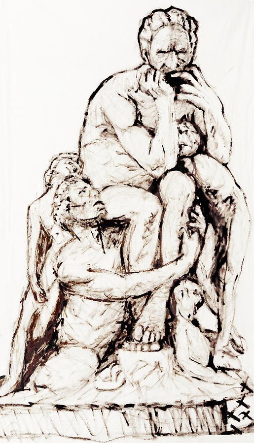 Ugolino And His Sons Painting by Cesar Terranova