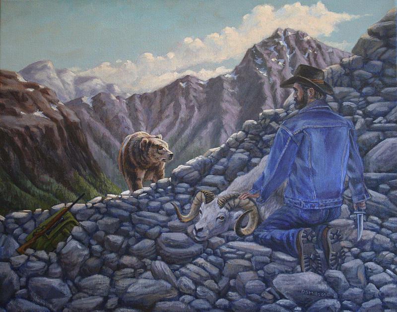 Wildlife Painting - Uh Oh by Dan Mills