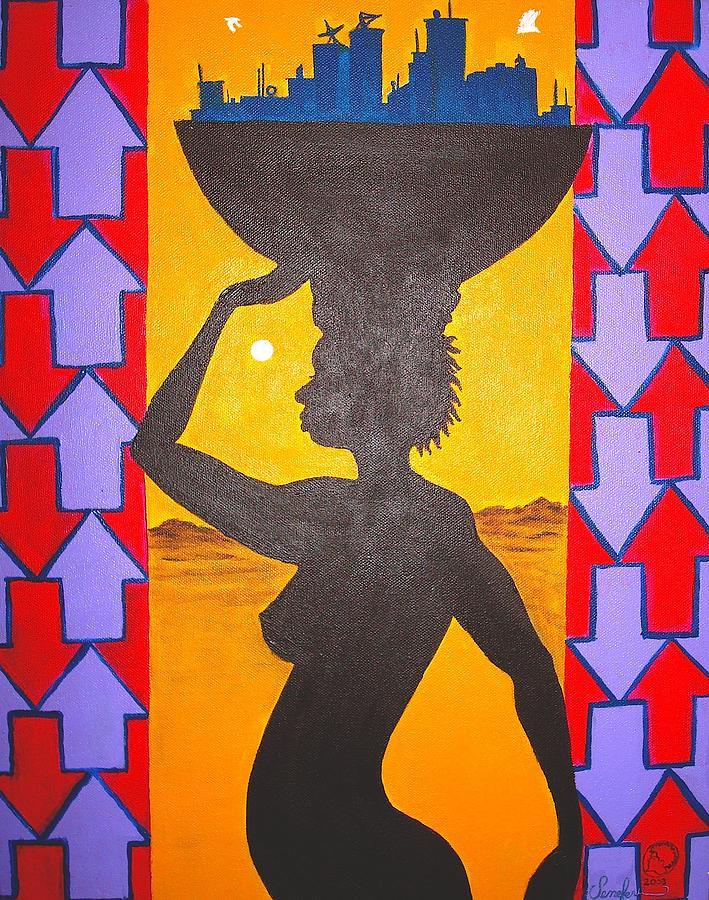 Malik Painting - Uhuru by Malik Seneferu