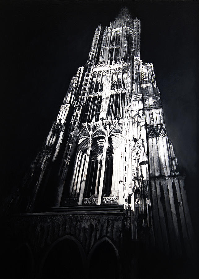 Cathedrals Painting - Ulmer Muenster 2 by Christian Klute