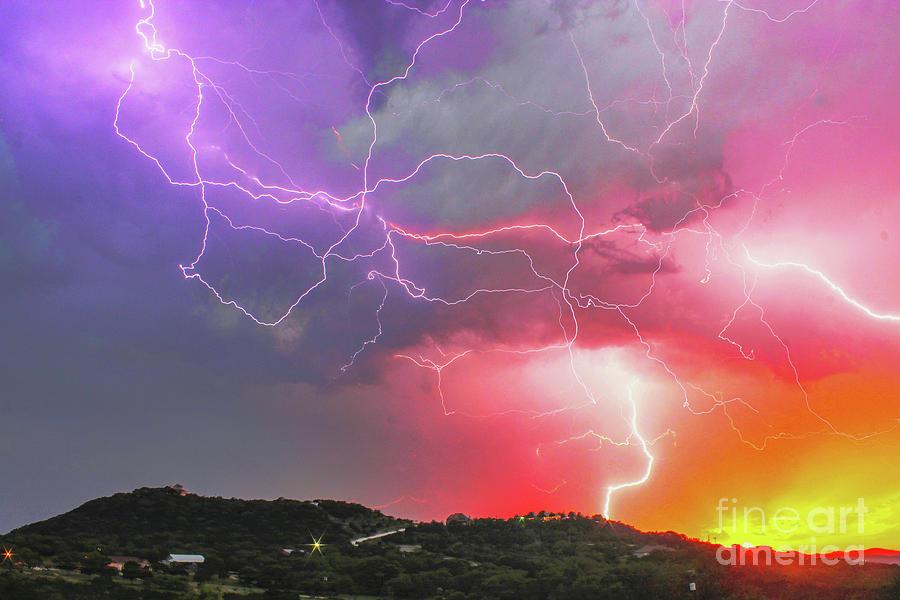 Ultimate Sunset Lightning by Michael Tidwell