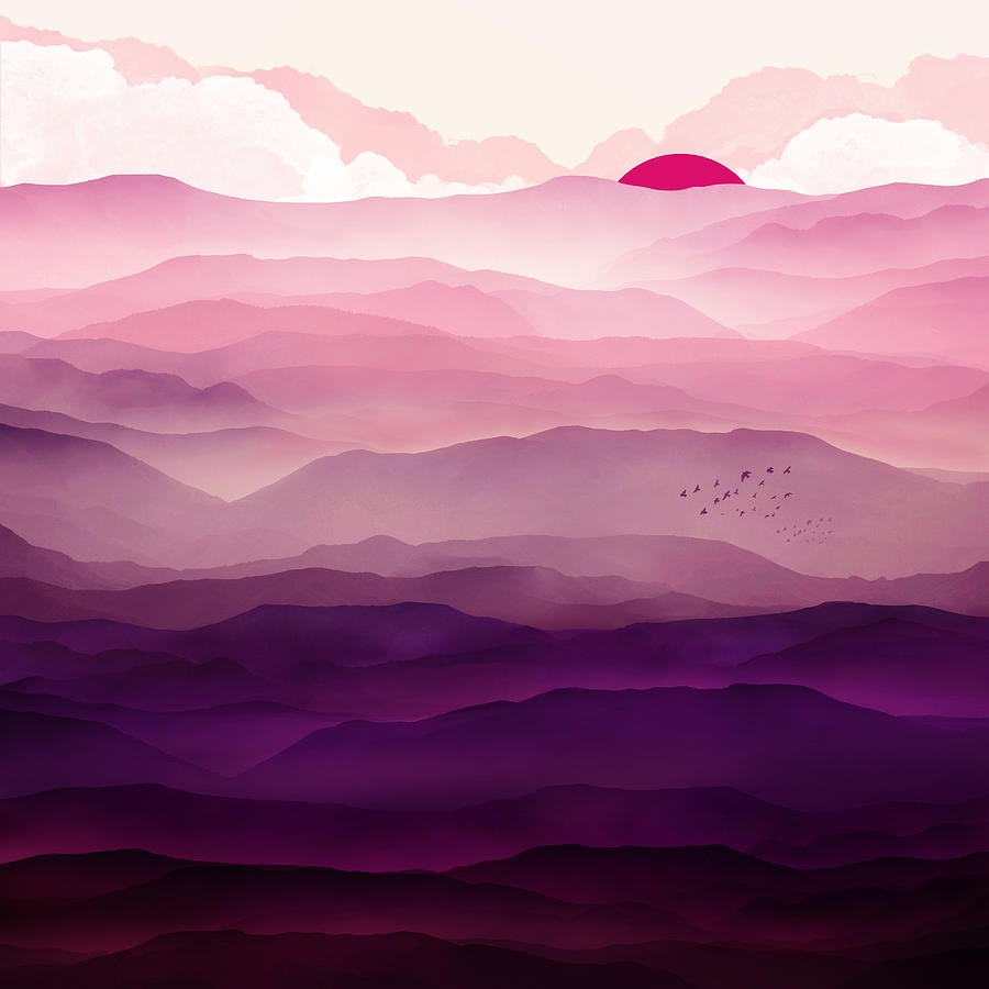 Violet Digital Art - Ultraviolet Day by Spacefrog Designs