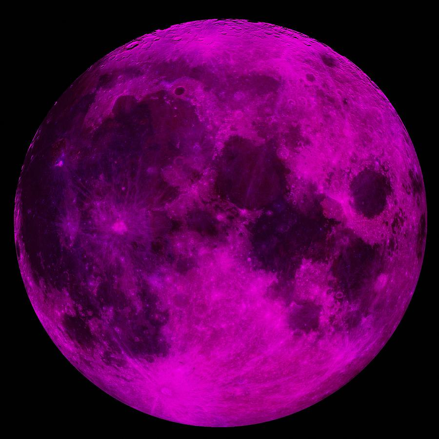 d91a288639 Ultraviolet Moon Photograph by Mark Blauhoefer