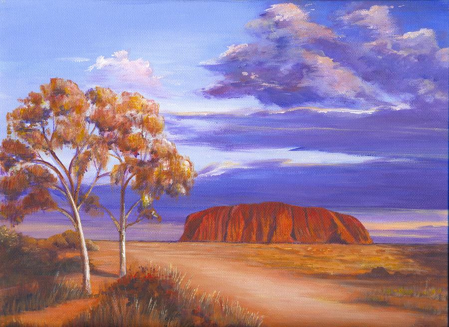 Landscape Painting - Uluru  - Ayers Rock by Robynne Hardison