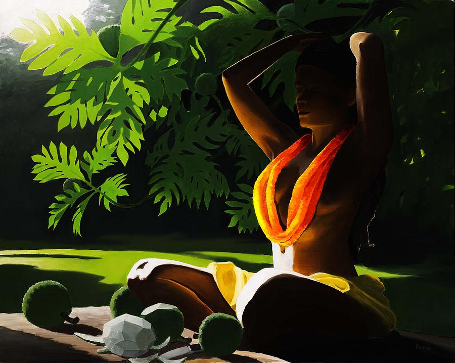 Woman Painting - Ulus by Pepe  Patrick Conley