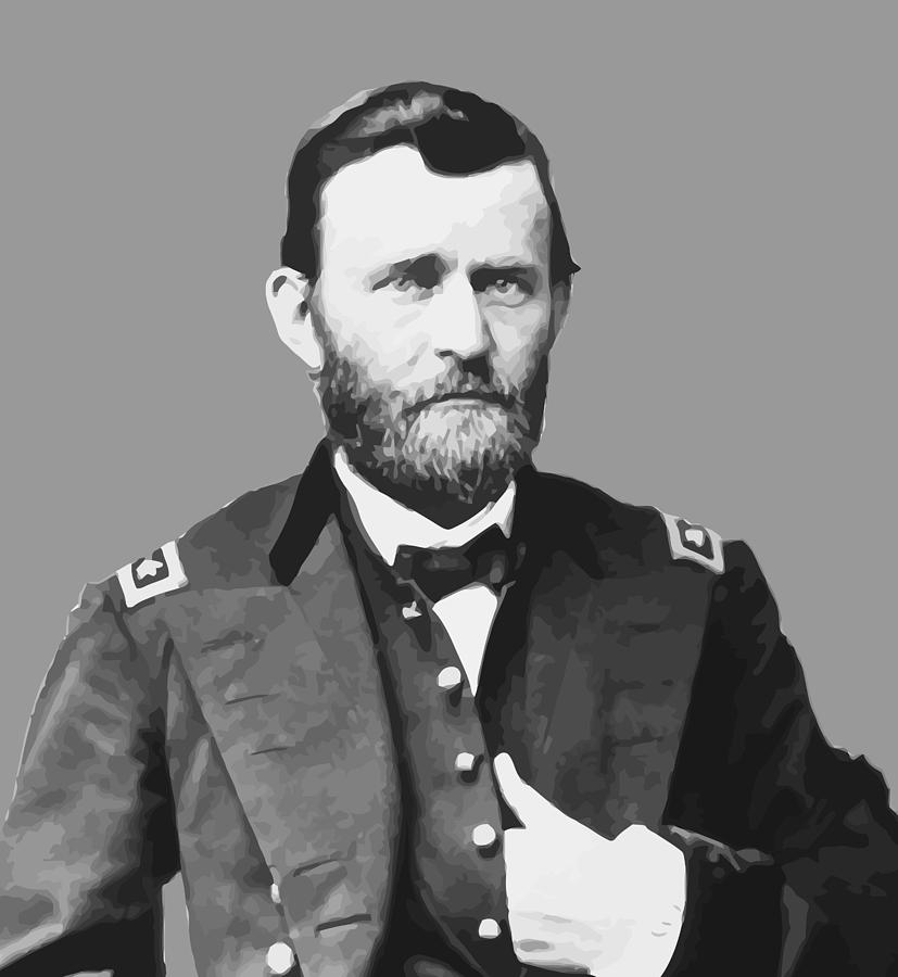 Us Grant Painting - Ulysses S Grant by War Is Hell Store