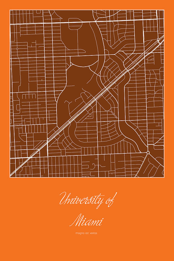 um street map - university of miami in miami map digital