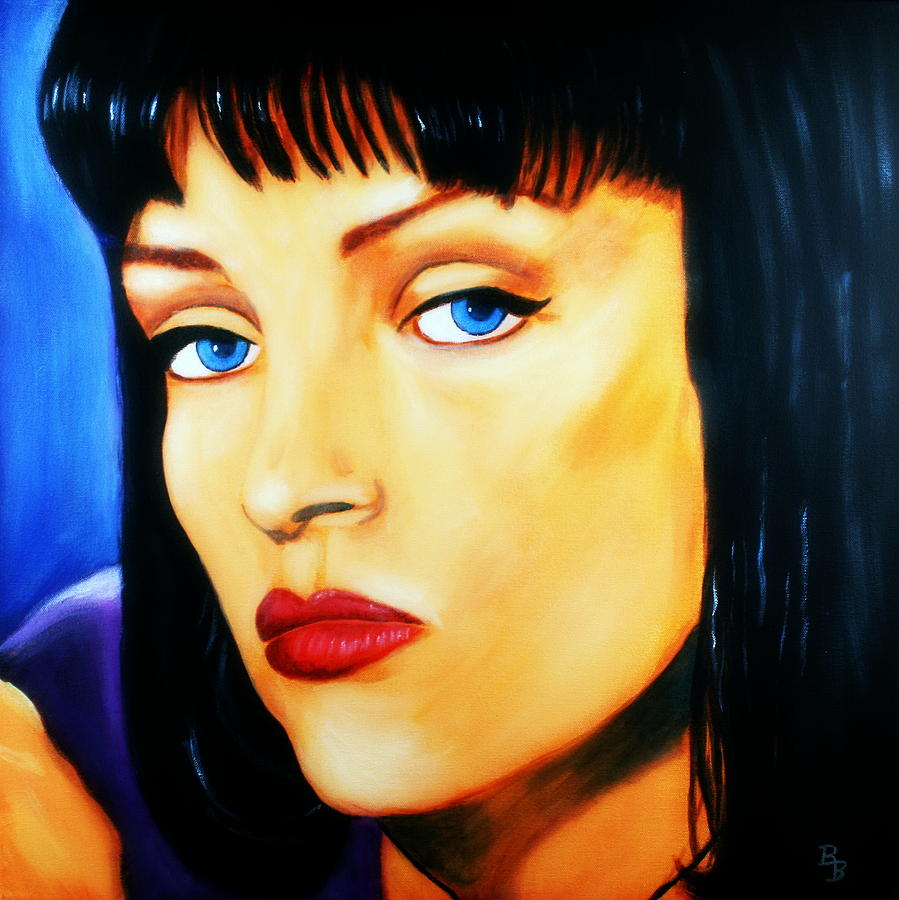 Uma Thurman Painting - Uma Thurman In Pulp Fiction by Bob Baker