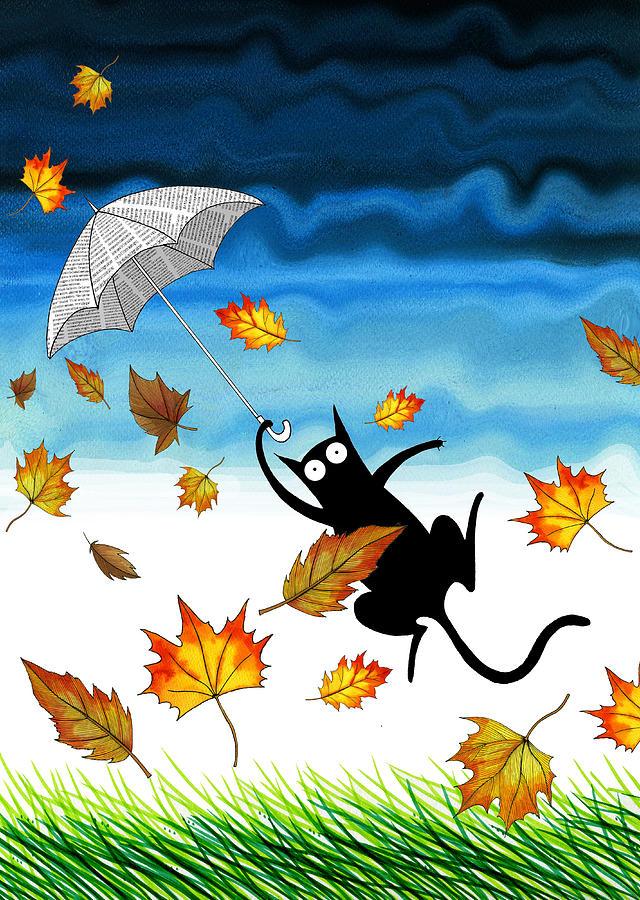 Cat Pastel - Umbrella by Andrew Hitchen