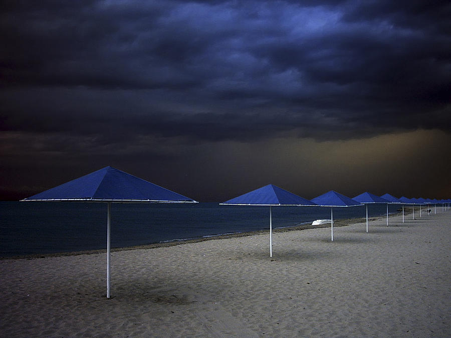 Fantastic Photograph - Umbrella Blues by Aydin Aksoy