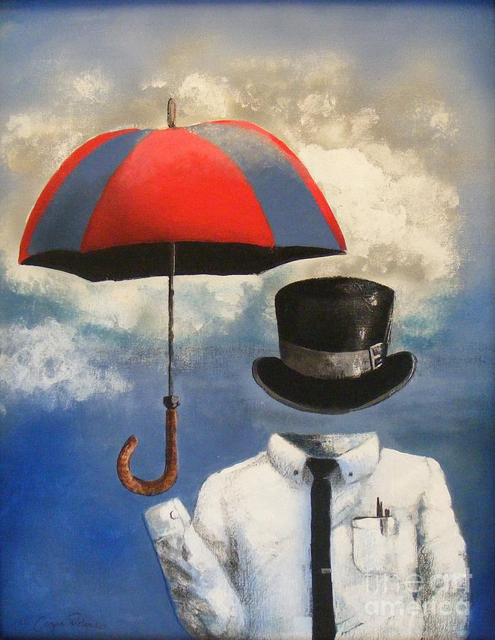 Surreal Painting - Umbrella by Crispin  Delgado