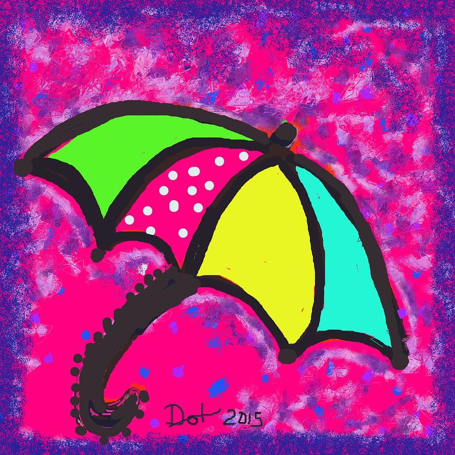 Umbrella Painting - Umbrella by Dotti Hannum