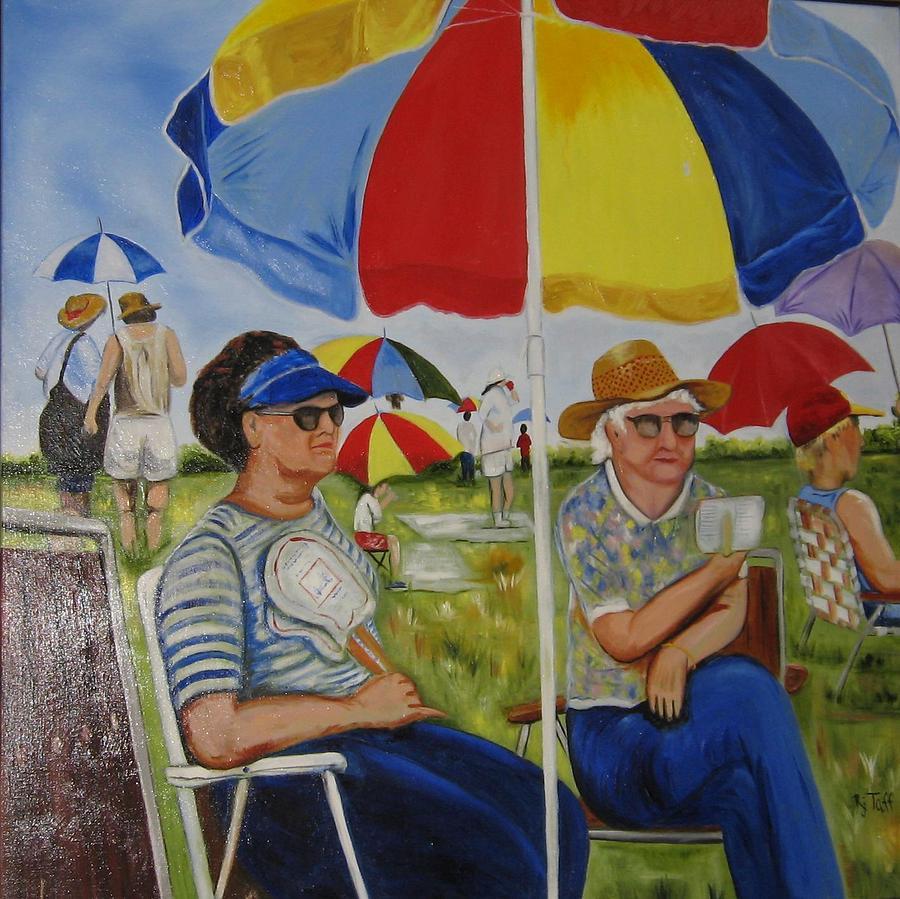 Umbrella Field by Roberta Martin