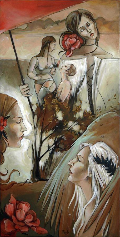 Umbrella Painting - Umbrella by Jacque Hudson