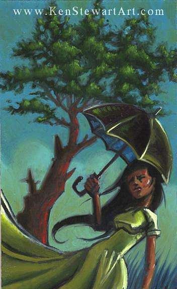 Storm Painting - Umbrella by Ken Stewart