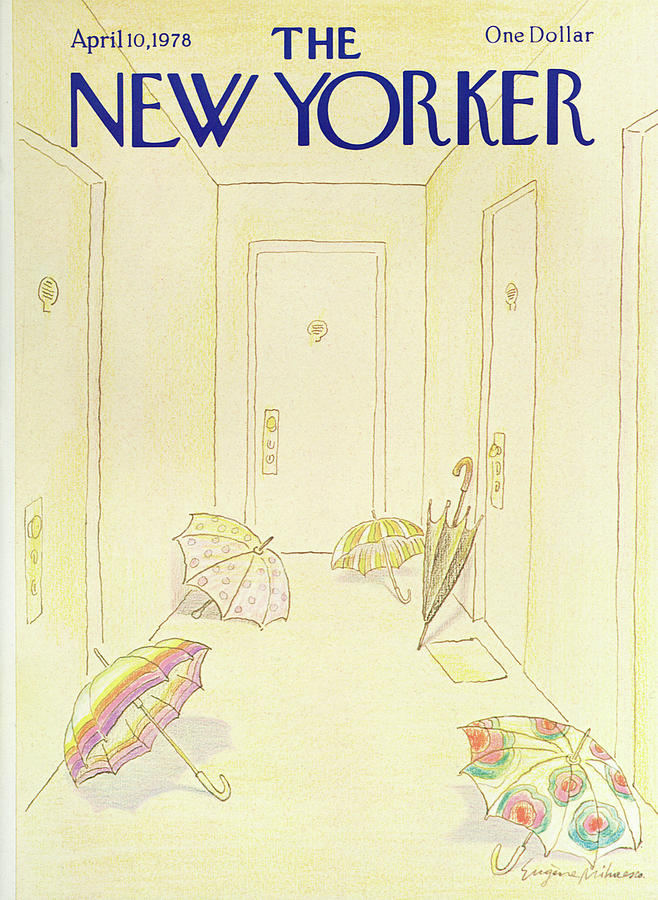 New Yorker April 10, 1978 Painting by Eugene Mihaesco
