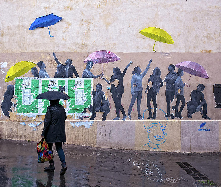 Umbrellas in Paris by Gary Karlsen