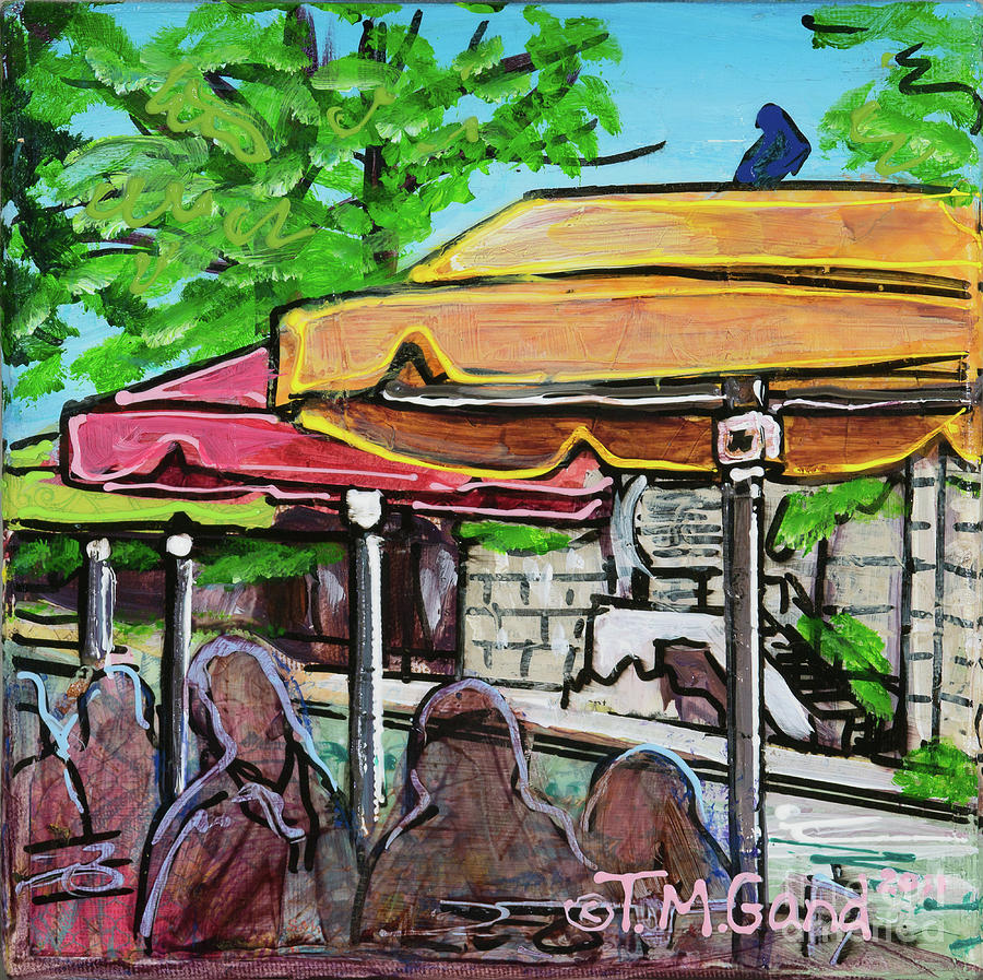 Contemporary Painting - Umbrellas by TM Gand