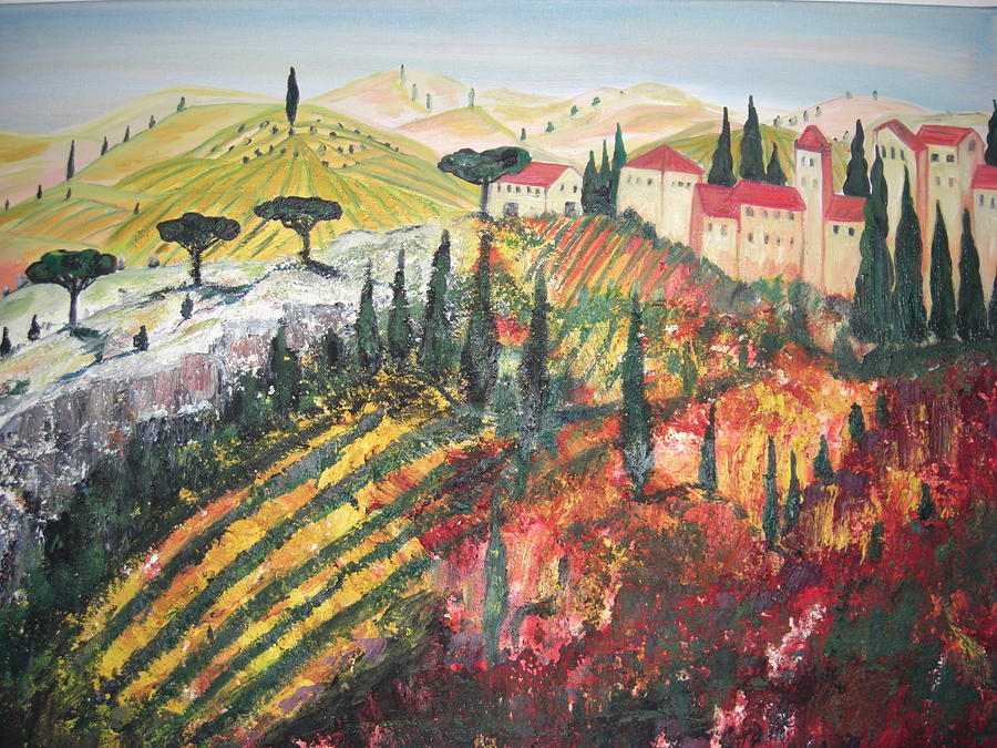 Landscapes Painting - Umbria Near Perugia Italy by Hannelore Amon