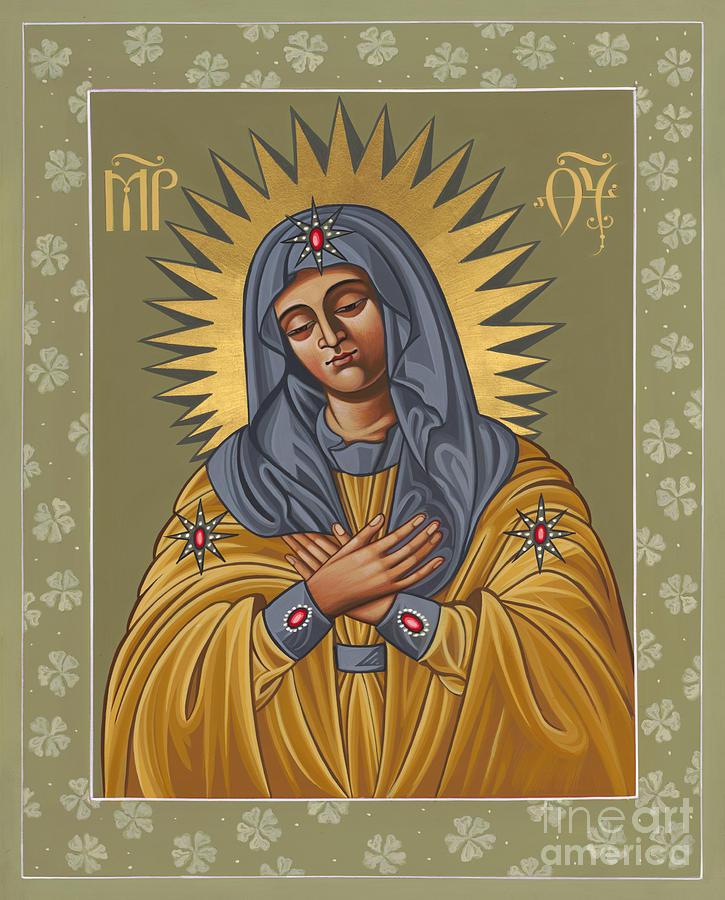 Mary Painting - Umilenie Icon Joy of All Joys 156 by William Hart McNichols