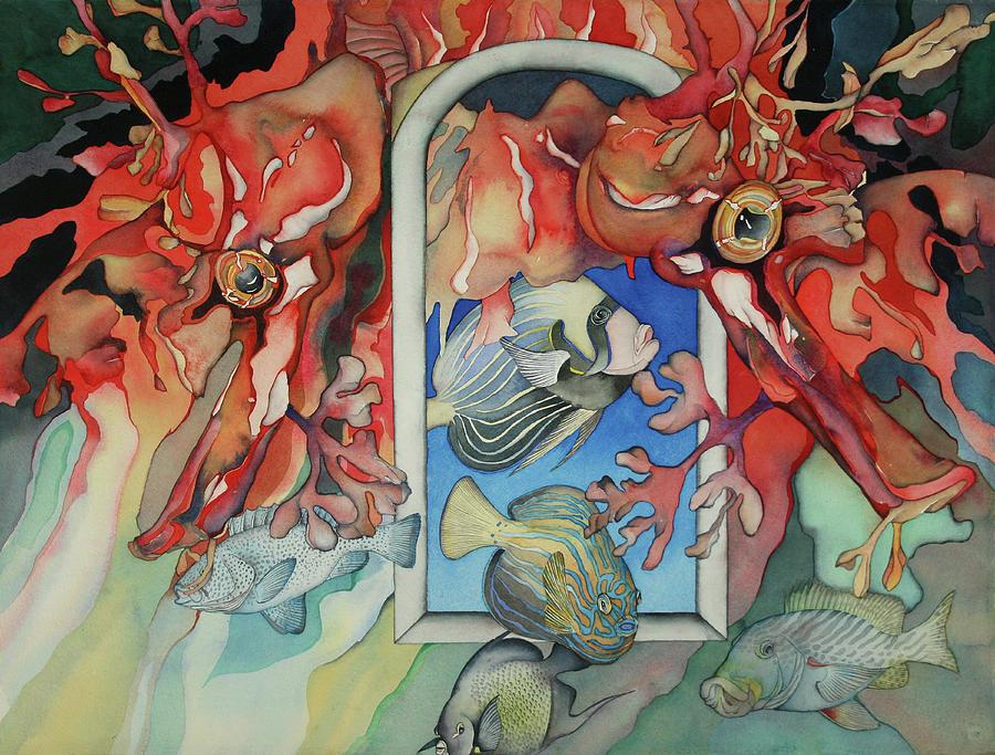 Sealife Painting - Un Autre Monde by Liduine Bekman